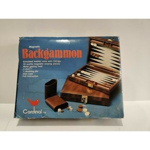 Vintage Cardinal Backgammon Game Set With Travel